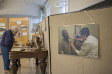 """<div class=""""source"""">KACIE GOODE/The Kentucky Standard</div><div class=""""image-desc"""">Guests enjoy a special exhibit for Black History Month at the Archival Center at Nazareth.</div><div class=""""buy-pic""""><a href=""""/photo_select/83487"""">Buy this photo</a></div>"""