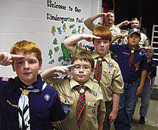 """<div class=""""source"""">Photo Submitted</div><div class=""""image-desc"""">Cub Scout Pack 142 members included Zachary Brown, Christian Mauldin, Daniel Brown, Aaron Knight and Trace Smathers.  Their leaders are Lee Smathers and Pat Brown.</div><div class=""""buy-pic""""></div>"""