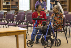 """<div class=""""source"""">KACIE GOODE/The Kentucky Standard</div><div class=""""image-desc"""">Sister Pat Haley, right, speaks with Sister Vimala Rani after Saturday's Black History Month talk at Nazareth focusing on former slave families. Sister Vimala was visiting from Bangalore, India.</div><div class=""""buy-pic""""><a href=""""/photo_select/83479"""">Buy this photo</a></div>"""