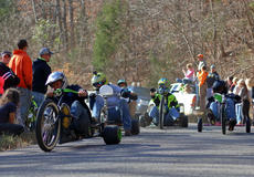 "<div class=""source"">KACIE GOODE/The Kentucky Standard</div><div class=""image-desc"">Racers come around the curve Sunday during the 2017 Cissal Hill Big Wheel Race.</div><div class=""buy-pic""><a href=""/photo_select/91223"">Buy this photo</a></div>"