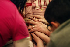 "<div class=""source"">KACIE GOODE/The Kentucky Standard</div><div class=""image-desc"">The Hughes family joins hands in prayer during the bedtime ritual for daughter Alexa, who has been battling stage four cancer for the past five months.</div><div class=""buy-pic""><a href=""/photo_select/83895"">Buy this photo</a></div>"