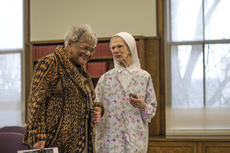 """<div class=""""source"""">KACIE GOODE/The Kentucky Standard</div><div class=""""image-desc"""">Sister John Ann Kulina, right, speaks with guest Martha Hickman after a special presentation Saturday at Nazareth.</div><div class=""""buy-pic""""><a href=""""/photo_select/83481"""">Buy this photo</a></div>"""