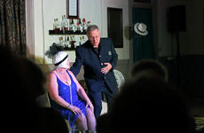 "<div class=""source"">KACIE GOODE/The Kentucky Standard</div><div class=""image-desc"">Officer Joey (Mark Hicks) and Sapphire (Toni Wiley) interact on stage Wednesday during a performance of ""Speakeasy Bourbon Style"" at the Gallery on Court Square.</div><div class=""buy-pic""><a href=""/photo_select/89219"">Buy this photo</a></div>"