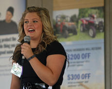 """<div class=""""source"""">KACIE GOODE/The Kentucky Standard</div><div class=""""image-desc"""">Izzy Neel promotes eating and growing local as she compares India and United States in disease issues at the Nelson County Fairgrounds Saturday. Neel took first in the public speaking contest. </div><div class=""""buy-pic""""><a href=""""/photo_select/77837"""">Buy this photo</a></div>"""