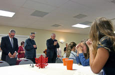 "<div class=""source"">KACIE GOODE/The Kentucky Standard</div><div class=""image-desc"">The room is led in prayer Sunday before an after-church meal at St. Michaels. The Catholic parish in Fairfield celebrated its 225th anniversary.</div><div class=""buy-pic""><a href=""/photo_select/89748"">Buy this photo</a></div>"