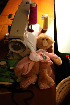 """<div class=""""source"""">SPENCER JENKINS/The Kentucky Standard</div><div class=""""image-desc"""">Dennis recycles clothes and stuffed animals, such as this bear, to create her art.</div><div class=""""buy-pic""""><a href=""""/photo_select/44481"""">Buy this photo</a></div>"""