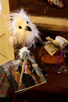 """<div class=""""source"""">SPENCER JENKINS/The Kentucky Standard</div><div class=""""image-desc"""">Albert Eaglestein is one of the many fiber creations made by Justine Dennis.</div><div class=""""buy-pic""""><a href=""""/photo_select/44480"""">Buy this photo</a></div>"""