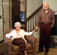 "<div class=""source"">ERIN L. MCCOY/The Kentucky Standard</div><div class=""image-desc"">Being members of Bardstown at Home helps Charles and Bernice Minor stay in their house, where Charles can keep up his hobbies and both can be surrounded by photographs and souvenirs of more than 60 years of marriage. </div><div class=""buy-pic""><a href=""http://web2.lcni5.com/cgi-bin/c2newbuyphoto.cgi?pub=191&orig=IMG_4706.JPG"" target=""_new"">Buy this photo</a></div>"