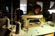 """<div class=""""source"""">SPENCER JENKINS/The Kentucky Standard</div><div class=""""image-desc"""">Justine Dennis, of New Haven, is a fiber artist who created her own technique of sewing that she calls Torsion Sewing.</div><div class=""""buy-pic""""><a href=""""/photo_select/44483"""">Buy this photo</a></div>"""