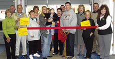 """<div class=""""source"""">Photo Submitted</div><div class=""""image-desc"""">Bardstown-Nelson County Chamber of Commerce Ambassadors join Chris and Meredith Lasure, their family and friends, for a ribbon cutting marking the grand opening of Sun Solutions Tint Company, 620 N. Third St. in Bardstown.  Sun Solutions specializes in tinting glass for automobiles and homes, but don't forget tractors, boats and recreational vehicles. Business hours are 8 a.m.-5:30 p.m. Monday through Friday, and 8 a.m.-noon Saturday. Estimates are free and gift certificates are available. Call 348-0706 to find out how window tinting can make you more comfortable and save on your energy bills.</div><div class=""""buy-pic""""></div>"""