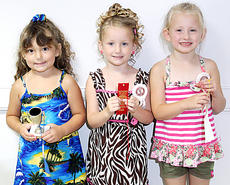 """<div class=""""source"""">CARRIE PRIDE/The Kentucky Standard</div><div class=""""image-desc"""">The winners in the Nelson County Fair Tiny Tots Girls 49-59 month category were, from left, first place Alexandria Grace Brockman, daughter of Jill and Lynn Brockman, Bardstown; second-place, Addisyn Nevaeh Cull, daughter of Jessica Lyn Newton and Adam Joseph Cull, Boston; and third-place, Savannah Leigh Donahue, daughter of Mike and Jackie Donahue, Bardstown.</div><div class=""""buy-pic""""><a href=""""/photo_select/28893"""">Buy this photo</a></div>"""