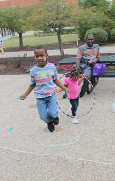 """<div class=""""source"""">RANDY PATRICK/The Kentucky Standard</div><div class=""""image-desc"""">T.J. Wells, 8, and his little sister, Mikaylah Hughes, 2, of Bardstown, got a good workout outside Flaget Memorial Hospital Saturday while """"Papaw"""" Otis Mason watched.</div><div class=""""buy-pic""""><a href=""""/photo_select/89921"""">Buy this photo</a></div>"""