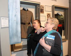 """<div class=""""source"""">RANDY PATRICK/The Kentucky Standard</div><div class=""""image-desc"""">Helen Sharon, right, of Nicholasville, talks with one of her students, Elizabeth Scott, about one of the exhibits at the Civil War Museum of the Western Theater on its opening day Friday.</div><div class=""""buy-pic""""><a href=""""/photo_select/93479"""">Buy this photo</a></div>"""