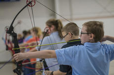 """<div class=""""source"""">KACIE GOODE/The Kentucky Standard</div><div class=""""image-desc"""">With the help of area schools, organizations and anonymous donors, the All Saints Archery Club is continuing their preparation for the regional tournament despite having the majority of their equipment stolen over the weekend.</div><div class=""""buy-pic""""><a href=""""/photo_select/83130"""">Buy this photo</a></div>"""