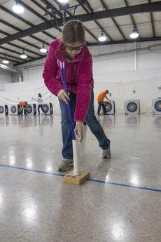 """<div class=""""source"""">KACIE GOODE/The Kentucky Standard</div><div class=""""image-desc"""">Students of the All Saints Archery Club were able to continue their practice Monday at St. Gregory's despite the majority of their equipment being stolen over the weekend. Area schools, organizations and donors have been working to lend or give the club bows, arrows and other equipment so they can be ready for the region 5 tournament in a few weeks.</div><div class=""""buy-pic""""><a href=""""/photo_select/83131"""">Buy this photo</a></div>"""