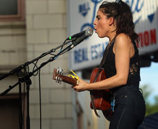 "<div class=""source"">KACIE GOODE/The Kentucky Standard </div><div class=""image-desc"">Carly Moffa opens the Bourbon City Street Concert Saturday in Bardstown. </div><div class=""buy-pic""><a href=""/photo_select/77643"">Buy this photo</a></div>"