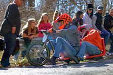 "<div class=""source"">KACIE GOODE/The Kentucky Standard</div><div class=""image-desc"">Racers ride a two-seater Sunday during the 2017 Cissal Hill Big Wheel Race.</div><div class=""buy-pic""><a href=""/photo_select/91240"">Buy this photo</a></div>"