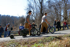 "<div class=""source"">KACIE GOODE/The Kentucky Standard</div><div class=""image-desc"">Particpants walk up the hill to the starting line Sunday afternoon during the Cissal Hill Big Wheel Race.</div><div class=""buy-pic""><a href=""/photo_select/91246"">Buy this photo</a></div>"