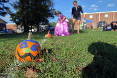"""<div class=""""source"""">KACIE GOODE/The Kentucky Standard</div><div class=""""image-desc"""">A pumpkin path comprising pumpkins painted by New Haven School students is displayed Saturday during Boo Haven.</div><div class=""""buy-pic""""><a href=""""/photo_select/90073"""">Buy this photo</a></div>"""