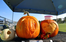 """<div class=""""source"""">KACIE GOODE/The Kentucky Standard</div><div class=""""image-desc"""">Carved pumpkins advertise New Haven School at Boo Haven Saturday evening.</div><div class=""""buy-pic""""><a href=""""/photo_select/90071"""">Buy this photo</a></div>"""