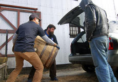 "<div class=""source"">KACIE GOODE/The Kentucky Standard</div><div class=""image-desc"">Barrels are loaded for transport Monday morning at Willett Distillery as Kentucky craft brewers plan to use them for a brewing experiment.</div><div class=""buy-pic""><a href=""/photo_select/91563"">Buy this photo</a></div>"