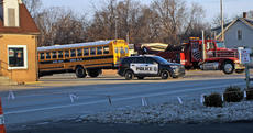 "<div class=""source"">KACIE GOODE/The Kentucky Standard</div><div class=""image-desc"">A tow truck works to remove a Nelson County Schools bus from 31E about an hour after an accident involving another driver. No students were reported injured, and the car's driver was transported to the hospital allegedly following a seizure. </div><div class=""buy-pic""><a href=""/photo_select/72793"">Buy this photo</a></div>"