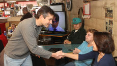 """<div class=""""source"""">RANDY PATRICK/The Kentucky Standard</div><div class=""""image-desc"""">State Rep. Chad McCoy, R-Bardstown, greets guests at the Coffee with Chad Saturday morning at the country store in High Grove.</div><div class=""""buy-pic""""><a href=""""/photo_select/83371"""">Buy this photo</a></div>"""