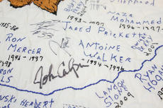 "<div class=""source"">Peter W. Zubaty</div><div class=""image-desc"">Darleene Wimsett's Kentucky Wildcats quilt features hand-embroidered names and dates for all former players and coaches, as well as several autographs and numerous hand-stitched graphics across its 9x9-foot surface.</div><div class=""buy-pic""><a href=""/photo_select/36583"">Buy this photo</a></div>"