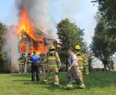 "<div class=""source"">RANDY PATRICK/The Kentucky Standard</div><div class=""image-desc"">Firefighters from several agencies trained by burning an old two-story farmhouse at 1405 N. Third St. Saturday. Bardstown Fire hosted the class.</div><div class=""buy-pic""><a href=""/photo_select/89511"">Buy this photo</a></div>"