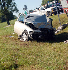 "<div class=""source"">TREY CRUMBIE/The Kentucky Standard</div><div class=""image-desc"">Several emergency crews responded to a two-vehicle accident Friday at 9 a.m. on Springfield Road in Bloomfield. The accident caused the drivers of both vehicles to be transported to the University of Louisville. The driver of the Grand Marquis was airlifted to the University of Louisville via Air Methods Kentucky. </div><div class=""buy-pic""><a href=""/photo_select/68115"">Buy this photo</a></div>"
