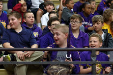 "<div class=""source"">KACIE GOODE/The Kentucky Standard</div><div class=""image-desc"">Gabriel Schepker, a sixth-grader at Bardstown Middle School, is surprised to learn he is the guest character in a Star Wars skit at the morning assembly. Gabriel, who has a life-threatening heart condition, loves Star Wars.</div><div class=""buy-pic""><a href=""/photo_select/85707"">Buy this photo</a></div>"