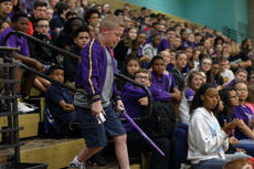 "<div class=""source"">KACIE GOODE/The Kentucky Standard</div><div class=""image-desc"">Gabriel Schepker, a sixth-grader at Bardstown Middle School, is surprised to learn he is the guest character in a Star Wars skit at the morning assembly. Gabriel, who has a life-threatening heart condition, loves Star Wars.</div><div class=""buy-pic""><a href=""/photo_select/85708"">Buy this photo</a></div>"