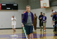 "<div class=""source"">KACIE GOODE/The Kentucky Standard</div><div class=""image-desc"">Gabriel Schepker, a sixth grader at Bardstown Middle School, was invited into a staff Star Wars skit Friday morning. Gabriel suffers from a heart defect and is working to get listed for a transplant. </div><div class=""buy-pic""><a href=""/photo_select/85706"">Buy this photo</a></div>"