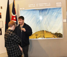 """<div class=""""source"""">RANDY PATRICK/The Kentucky Standard</div><div class=""""image-desc"""">Chasel LaBarbara, right, a history buff, tells Lucas Watson what he knows about the Battle of Perryville during the home school students' visit Friday to the Civil War Museum in Bardstown.</div><div class=""""buy-pic""""><a href=""""/photo_select/93486"""">Buy this photo</a></div>"""