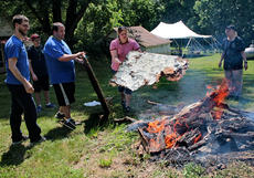 "<div class=""source"">KACIE GOODE/The Kentucky Standard</div><div class=""image-desc"">The old sign at We Survive's Haven of Hope in Bloomfield is burned, making way for the new sign and new lives that the organization continues to touch.</div><div class=""buy-pic""><a href=""/photo_select/66772"">Buy this photo</a></div>"
