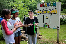 "<div class=""source"">KACIE GOODE/The Kentucky Standard</div><div class=""image-desc"">Maddie and Olivia Bohler, who put together the key of hopes for participants in Saturday's Day of Hope, talk about the placement and meaning behind the lighthouse, which was lit at We Survive's Haven of Hope in Bloomfield.</div><div class=""buy-pic""><a href=""/photo_select/66771"">Buy this photo</a></div>"