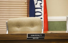 "<div class=""source"">FORREST BERKSHIRE/The Kentucky Standard</div><div class=""image-desc"">Bardstown Mayor John Royalty's chair sits empty as the allegations stemming from a three-month investigation are presented at Tuesday night's city council meeting. Royalty said he was called away to Louisville to attend to a family member who was dealing with an issue at a hospital.</div><div class=""buy-pic""><a href=""/photo_select/84490"">Buy this photo</a></div>"