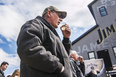 """<div class=""""source"""">KACIE GOODE/The Kentucky Standard</div><div class=""""image-desc"""">A toast is made celebrating Jim Beam's 15 millionth barrel Monday afternoon.</div><div class=""""buy-pic""""><a href=""""/photo_select/93678"""">Buy this photo</a></div>"""