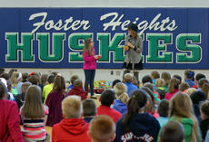 "<div class=""source"">KACIE GOODE/The Kentucky Standard</div><div class=""image-desc"">Author Julia Cook spoke with elementary school students at Foster Heights Friday morning as part of her tour through Bardstown and Nelson County schools. Cook has written more than 80 books for kids that focus on real-world problems and problem solving. Some of the books she shared with local kids addressed having a bad attitude, cyber safety and how to spot kidnappers and child predators.</div><div class=""buy-pic""><a href=""/photo_select/91475"">Buy this photo</a></div>"