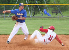 "<div class=""source"">Peter W. Zubaty</div><div class=""image-desc"">Bethlehem's Jake Yates, left, turns two against Nelson County's Zech Maulden. Yates moves from second base to shortstop this season, and is one of the main sparkplugs in the Eagles' batting order.</div><div class=""buy-pic""></div>"