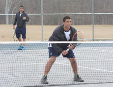 "<div class=""source"">RHONDA HORN/Thomas Nelson High School</div><div class=""image-desc"">Twin juniors Timothy (serving) and Nathan Kaissieh are undefeated in doubles play so far this season against a rugged schedule. The brothers are hoping to help lead the Generals to a second straight boys overall team district title.</div><div class=""buy-pic""></div>"
