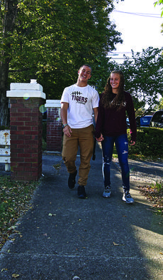 """<div class=""""source"""">PETER W. ZUBATY/The Kentucky Standard</div><div class=""""image-desc"""">Keanu Young and Lakin Walls take a stroll in downtown Bardstown on a pretty fall day on a rare off weekend from their duties with the Campbellsville University football and women's soccer team, respectively.</div><div class=""""buy-pic""""><a href=""""/photo_select/80639"""">Buy this photo</a></div>"""