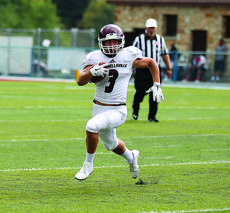 """<div class=""""source"""">CAMPBELLSVILLE UNIVERSITY SPORTS INFORMATION</div><div class=""""image-desc"""">Keanu Young did a little bit of everything on offense for Bardstown during his time there, but at Campbellsville he's settled into his role as a receiver during his sophomore season. Young's 26 catches are second-most on the team, and he's tallied 227 yards and a touchdown in five games played this season (through press time Saturday morning).</div><div class=""""buy-pic""""><a href=""""/photo_select/80641"""">Buy this photo</a></div>"""