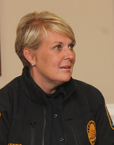 "<div class=""source"">RANDY PATRICK/The Kentucky Standard</div><div class=""image-desc"">Bardstown Police Chief Kim Kraeszig talks to the City Council about her department's capture of a man who is accused of stealing a van and vandalizing several vehicles downtown last week, including burning one.</div><div class=""buy-pic""></div>"