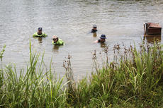 "<div class=""source"">KACIE GOODE/The Kentucky Standard</div><div class=""image-desc"">Divers were in Melody Lake Tuesday afternoon, but law enforcement officials would not give a reason for their visit or say if it was related to an investigation. </div><div class=""buy-pic""><a href=""/photo_select/68034"">Buy this photo</a></div>"