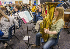 "<div class=""source"">KACIE GOODE/The Kentucky Standard</div><div class=""image-desc"">Morgan Walker practices with her class at Bloomfield Middle School. The eighth-grader recently participated in an honors band at Campbellsville University. Walker moved to the area bout three months ago. </div><div class=""buy-pic""><a href=""/photo_select/83957"">Buy this photo</a></div>"