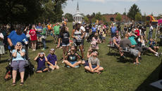 "<div class=""source"">PETER W. ZUBATY/The Kentucky Standard</div><div class=""image-desc"">Scores of people gathered at the Nelson County Public Library in Bardstown for an eclipse-viewing party Monday.</div><div class=""buy-pic""><a href=""/photo_select/88605"">Buy this photo</a></div>"