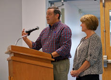 "<div class=""source"">KACIE GOODE/The Kentucky Standard</div><div class=""image-desc"">Robbie Leathers and Cheryl Pile speak about nursing staff during the Sept. 7 work session for the Nelson County Schools Board of Education.</div><div class=""buy-pic""><a href=""/photo_select/89210"">Buy this photo</a></div>"