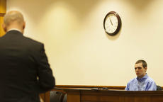 "<div class=""source"">FORREST BERKSHIRE/The Kentcuky Standard</div><div class=""image-desc"">Alexander Cole Roberts faces questions from special prosecutor Jeffrey Prather while in the withness stand during his trial for murder Thursday. The jury returned a verdict of second-degree manslaughter Thursday evening.</div><div class=""buy-pic""></div>"