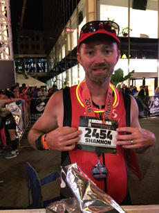 """<div class=""""source"""">Submitted Photo</div><div class=""""image-desc"""">Dale Hill was proud to finish his first-ever Ironman event. Dale completed the triathlon in 14 hours, 38 minutes and 11 seconds.</div><div class=""""buy-pic""""></div>"""